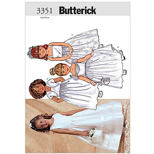 Butterick Pattern Children's and Girls' Jacket and Dress, (6, 7, 8)