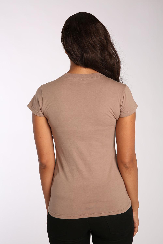 Sweet Vibes Junior Womens T-Shirt Screen Print Stretch Jersey Scoop Neck Top