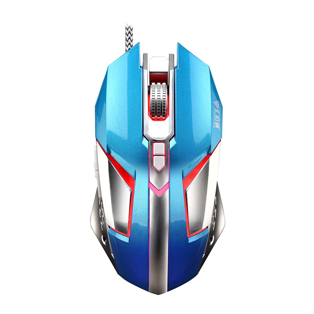 Professional USB Wired Gaming Mouse with 8 Button 4800 DPI LED Optical Mouse Gamer Mice Ergonomic Design for PC Laptop