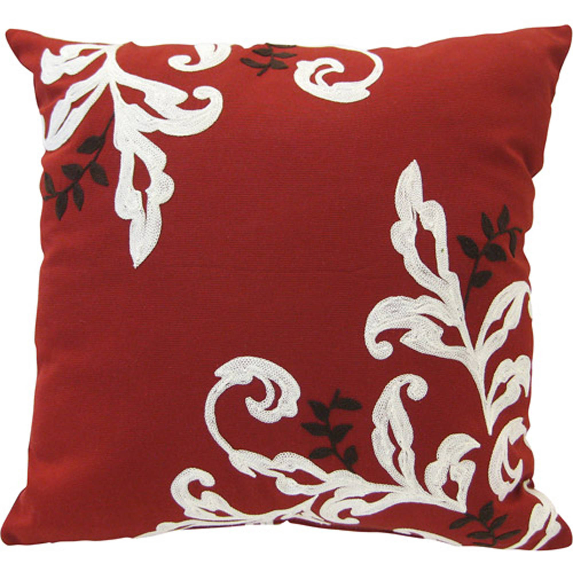 "Better Homes and Gardens Citrus Scroll 18""x18"" Decorative Pillow"