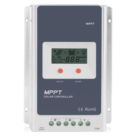 Solar Charger Controller 20A MPPT Tracer - Solar Panel Battery Regulator Tracer 2210A 12V 24V Smart Overloading, Short-circuit Safe Protection, LCD Display