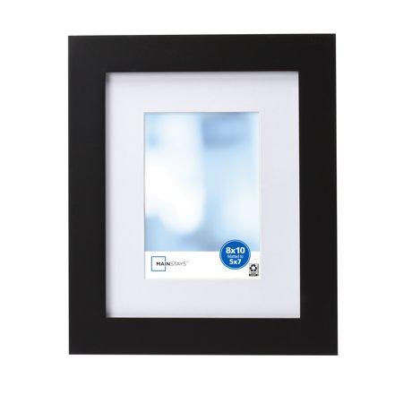 Mainstays Matted Picture Frame, Black Photo Framed Uda Upper Deck