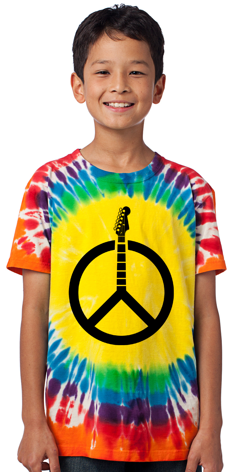 Don/'t Fret Guitar Youth T-Shirt Rock /& Roll Musician Peace Sign Music Kids Tee