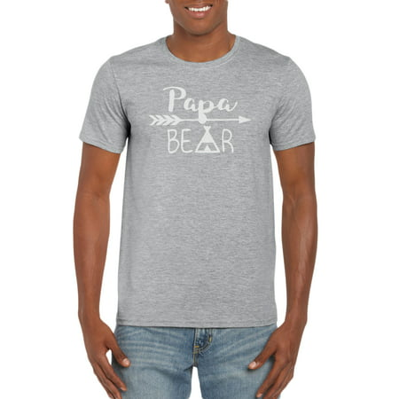 Papa Bear Indian Arrow TeePee Graphic T-Shirt Gift Idea for Men (Arrow Of Light Ceremony Ideas)