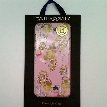 Glass Door Floral Case (CYNTHIA ROWLEY iPhone 6 / 6s Case With Glass Screen Protector Pink/Gold Floral)
