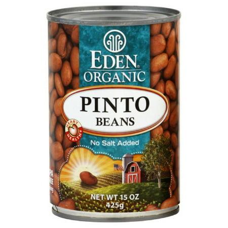 (6 Pack) Eden Organic Pinto Beans, No Salt Added, 15 Oz Eden Organic Navy Beans