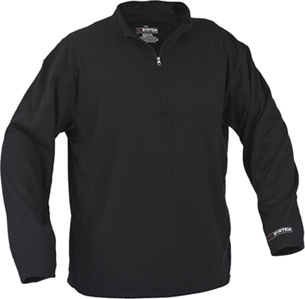 ArcticShield Midweight Fleece Black Pullover, X-System Technology X-Large by Arctic Shield
