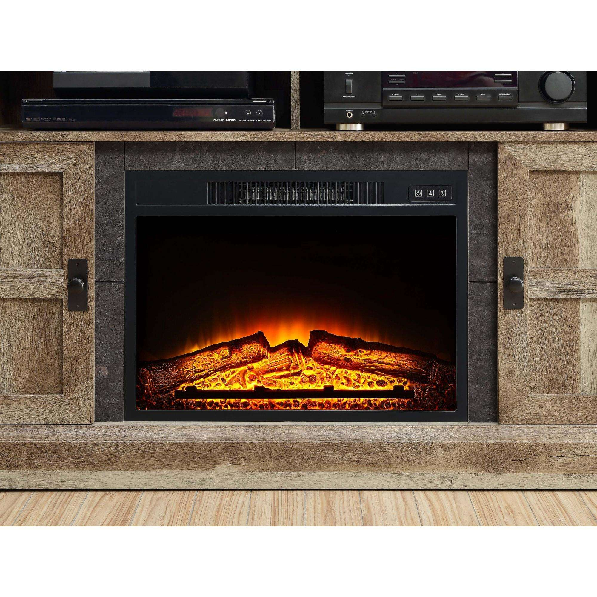 fireplace flame includes remote com electric digital mantle ip decor with walmart
