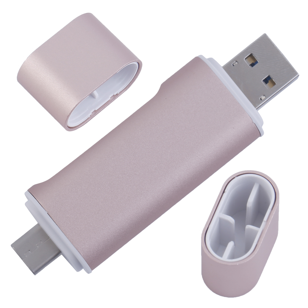 Metal USB Card Reader Multi-Functional Secure Digital TF USB2.0 Micro USB Type-C Male Head Support Mobile Phone OTG