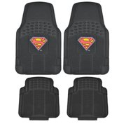 Warner Brothers  Superman Rubber Floor Mats 4-Piece Officially Licensed Products