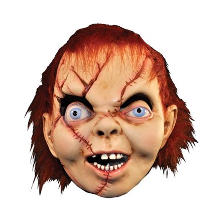 Bride Of Chucky Costume For Girls (Brown and White Bride of Chucky Halloween Unisex Adult Mask Costume Accessory - One)