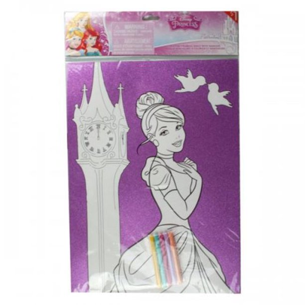 Bulk Buys Kl21906 11 X 15 In Disneys Princess Frozen Glitter Poster With 5 Markers Walmart Com Walmart Com