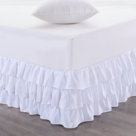 Waterfall 3-Layer Ruffled Bed skirt 14