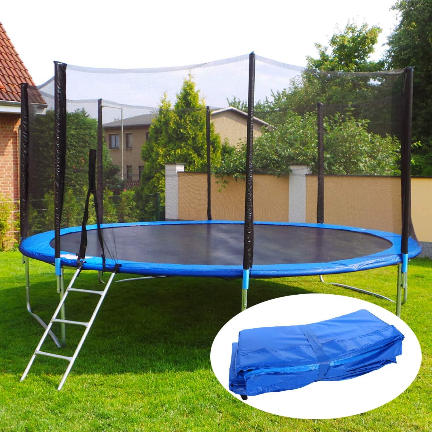 12ft Trampoline 15mm Safety Pad Spring Round Frame Pad