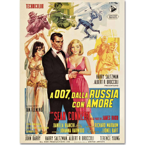 "Trademark Fine Art ""From Russia With Love"" Canvas Art by Vintage Apple Collection"