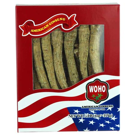 WOHO Ginseng # 100.4, Long Extra Large XL Cultivé Roots 4 oz