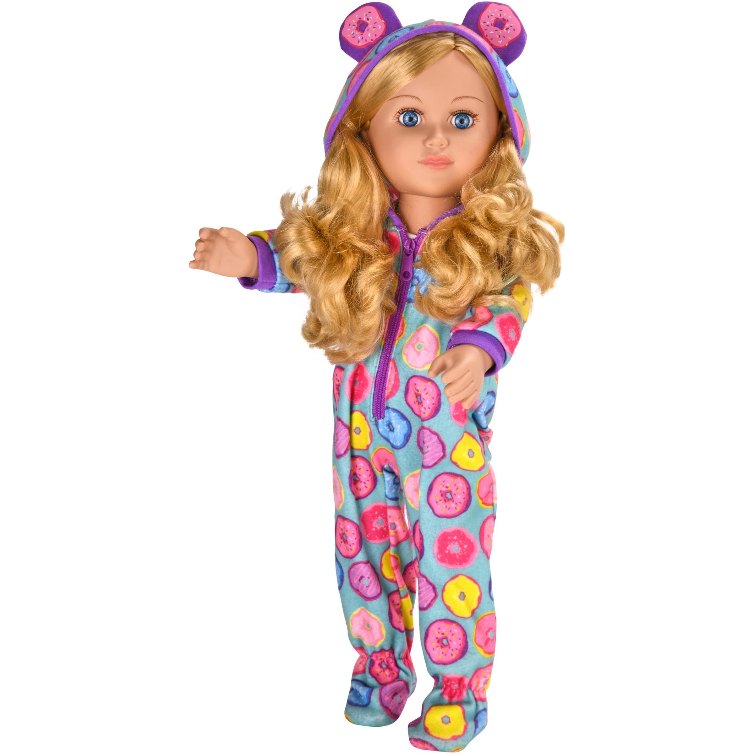 "My life as 18"" poseable sleepover host girl doll, blonde hair"