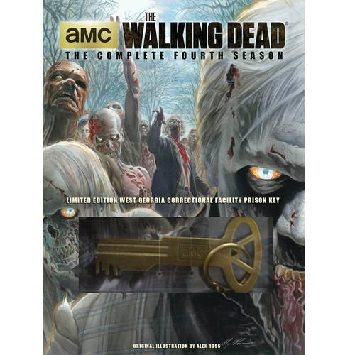 The Walking Dead: The Complete Fourth Season (DVD + Prison Key) (Walmart Exclusive) (Widescreen, WALMART EXCLUSIVE)