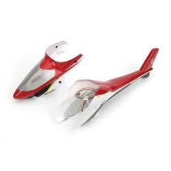 E-flite H2427 Complete Red Canopy with LEDs (Installed): BMCX2