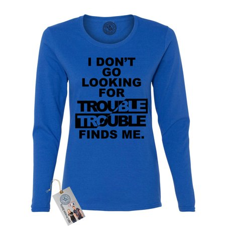 Harry Potter Trouble Finds Me Movie Saying Womens Long Sleeve Shirt