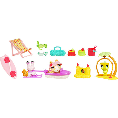 Littlest Pet Shop Themed G3 Playpack - TROPICAL TREASURE