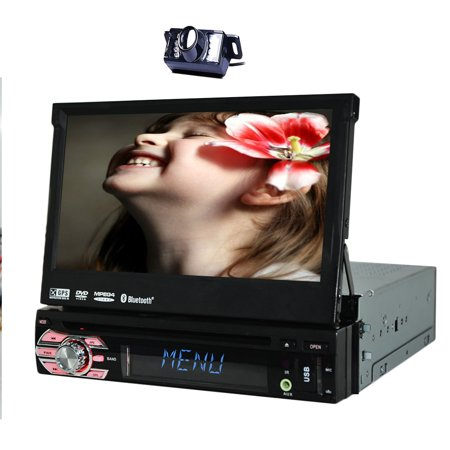 Autoradio Radio Receiver Monitor 1 DIN GPS Navi Car DVD Player FM AM Audio Car Stereo single din Headunit USB SD Bluetooth Video Touchscreen EinCar logo iPod Remote control Cam (Car Audio 1din)