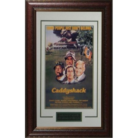Rodney Dangerfield In Caddyshack (Athlon CTBL-rd3589 Rodney Dangerfield Unsigned Caddyshack Vintage Golf Movie Poster Leather Framed - Entertainment & Photo - 11 x)