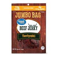 Great Value Beef Jerky Jumbo Bag, Teriyaki, 5.85 oz