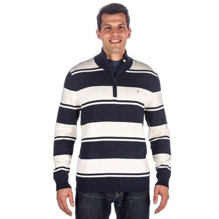 Noble Mount Men's 100% Cotton Half-Zip Pullover Sweater 100% Cotton Pullover Sweater