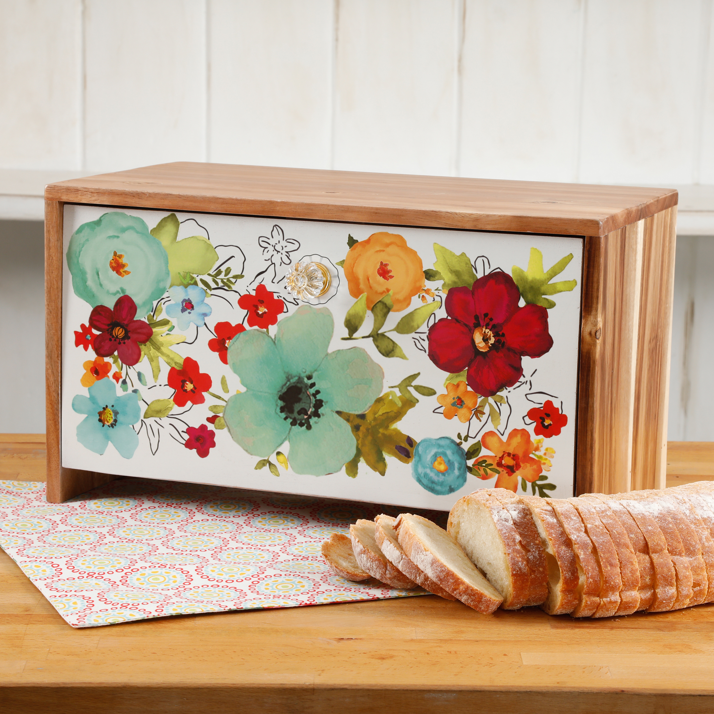 The Pioneer Woman Alex Marie 16-Inch x 9-Inch Bread Box
