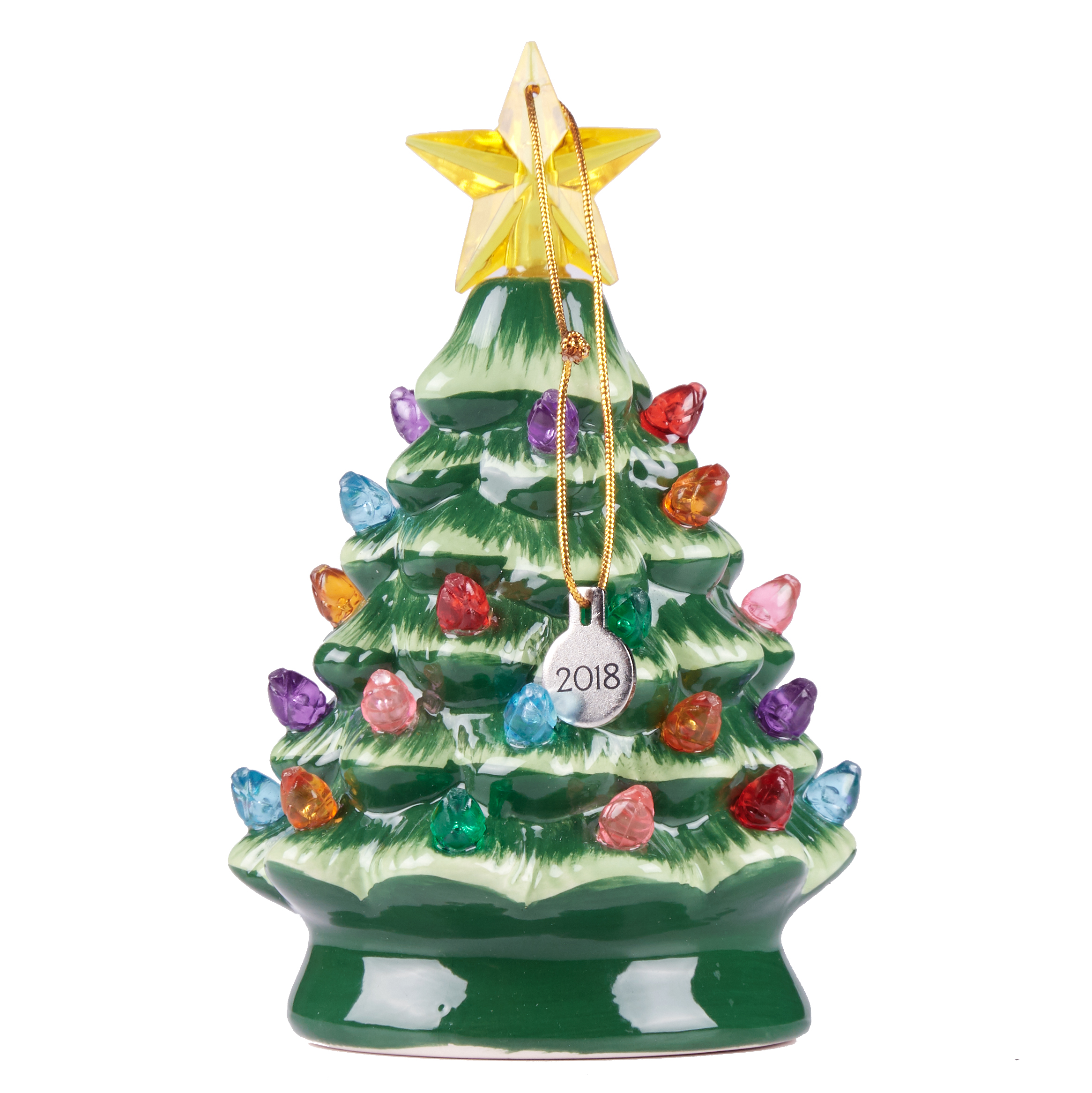 Holiday Time Mr. Christmas Nostalgic Tree Ornament with Multicolored Lights, 5 Inches