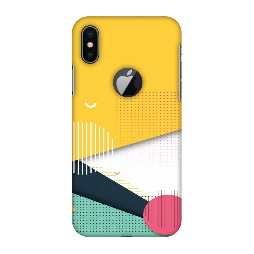 iPhone X Case - Dots And Stripes, Hard Plastic Back Cover. Slim Profile Cute Printed Designer Snap on Case with Screen Cleaning Kit