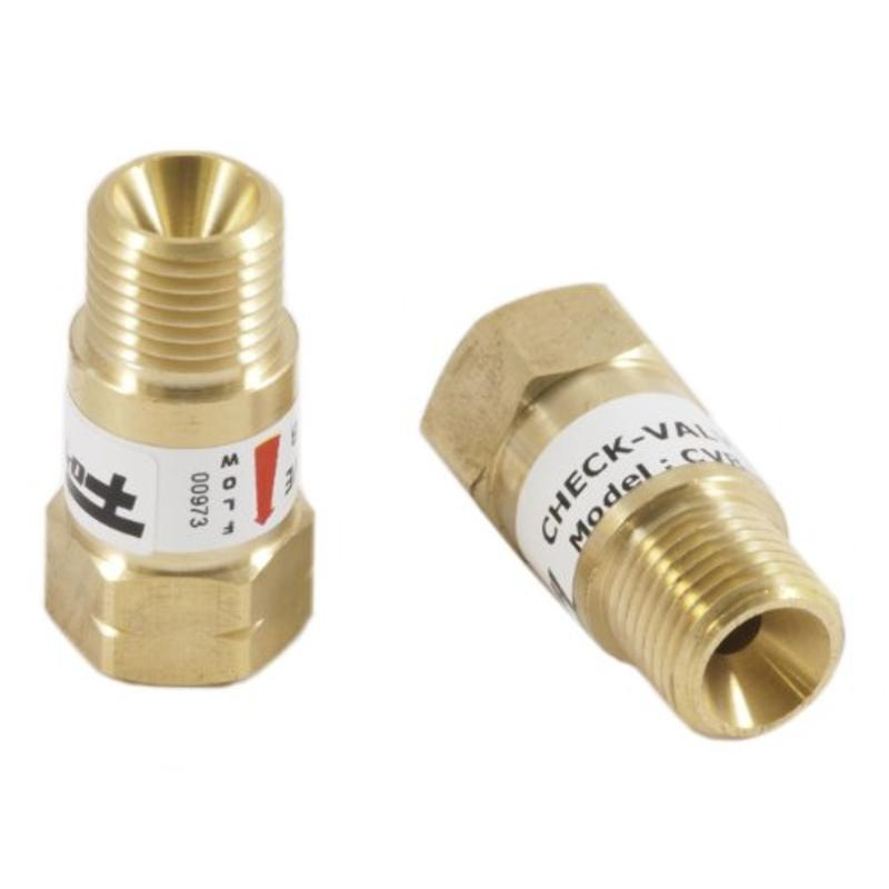Pair Fits B-Size Hose to Torch Reverse Flow Check Valves Forney 87147