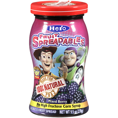 Hero Mixed Berry Fruit Spreadables, 9.5 oz