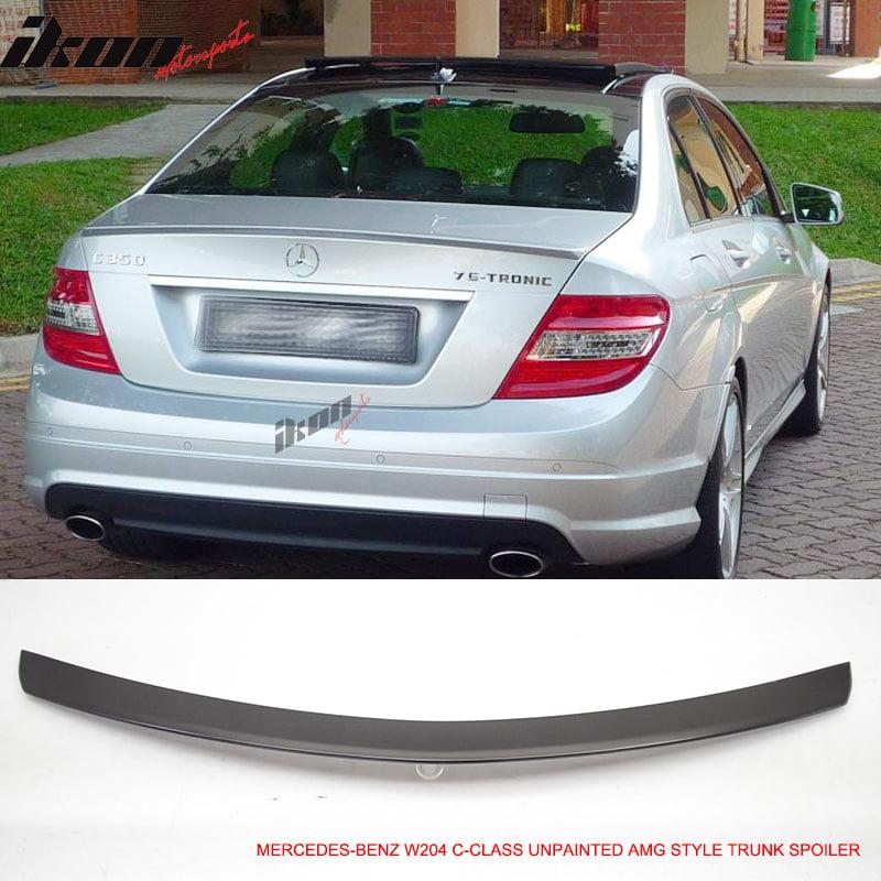 Fits 08-14 Mercedes-Benz C-Class W204 4Dr Unpainted Trunk Spoiler -ABS