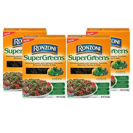(4 Pack) Ronzoni SuperGreens⢠Rotini, 12 oz. Box