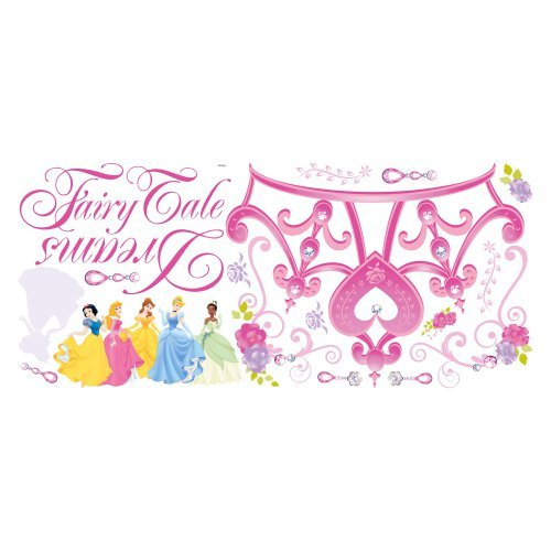 Disney Princess - Princess Crown Peel and Stick Giant Wall Decal