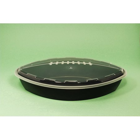 Cubeware CF-56B Football Container 56Oz With Clear Lid