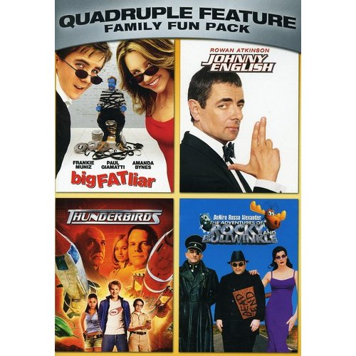 Family Fun Pack Quadruple Feature: Big Fat Liar / Johnny English / Thunderbirds / Adventures Of Rocky & Bullwinkle (Anamorphic Widescreen)