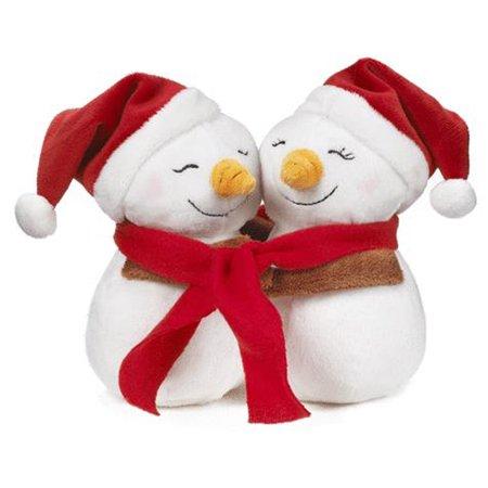 holiday hugs snowmen hugging christmas snowmen plush toys by ganz 6in - Christmas Plush Toys