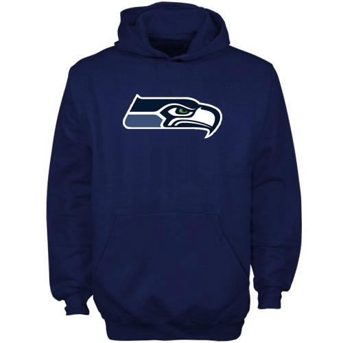 Seattle Seahawks Youth Primary Logo Fleece Hoodie - College Navy - Yth S
