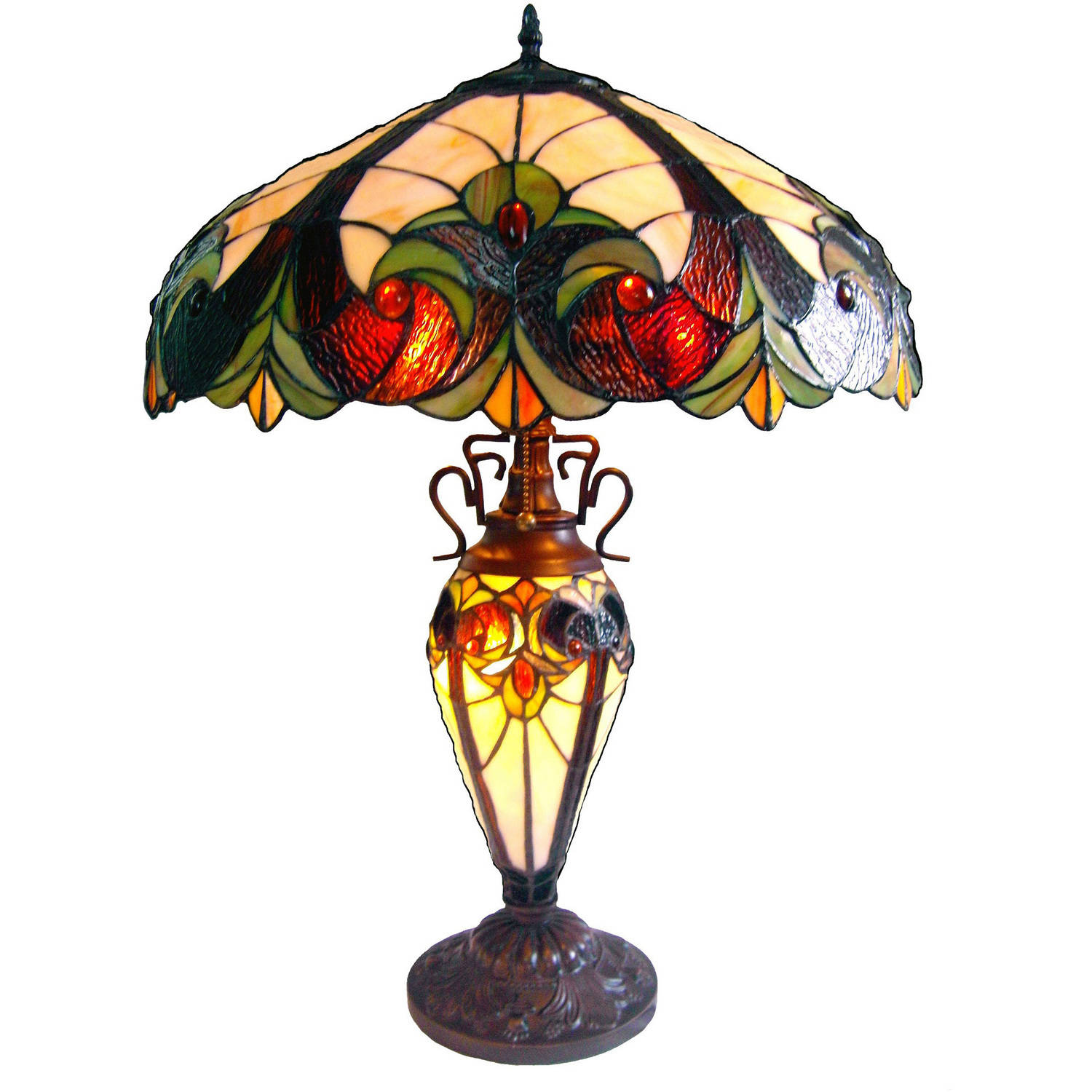 Victorian Double Lit Table Lamp