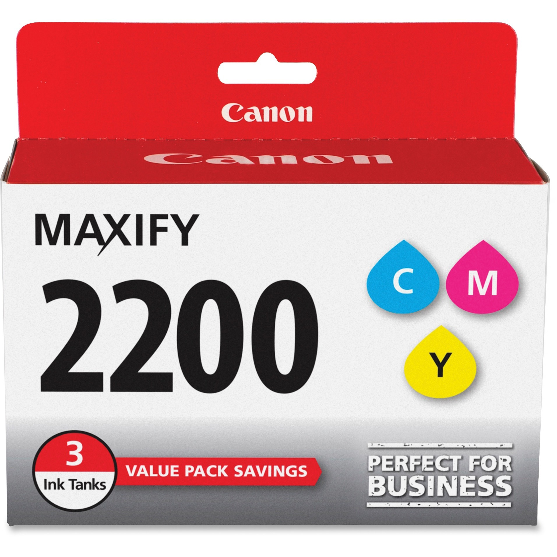 Canon, CNMPGI2200CMY, PG-2200 MAXIFY Color Ink Tank, 3 / Pack