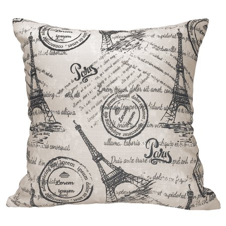 Mainstays Paris Tower Themed Decorative Pillow