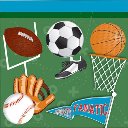 Sports Party Beverage Napkins (16 Pack) - Party Supplies
