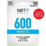 Net10 $45 Basic Prepaid 60-Day Plan Direct Top Up