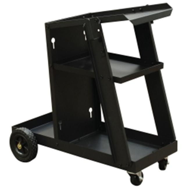 """28""""L x 13""""W x 4.5"""" H Welding Cart with 2 Shelves for Storage"""