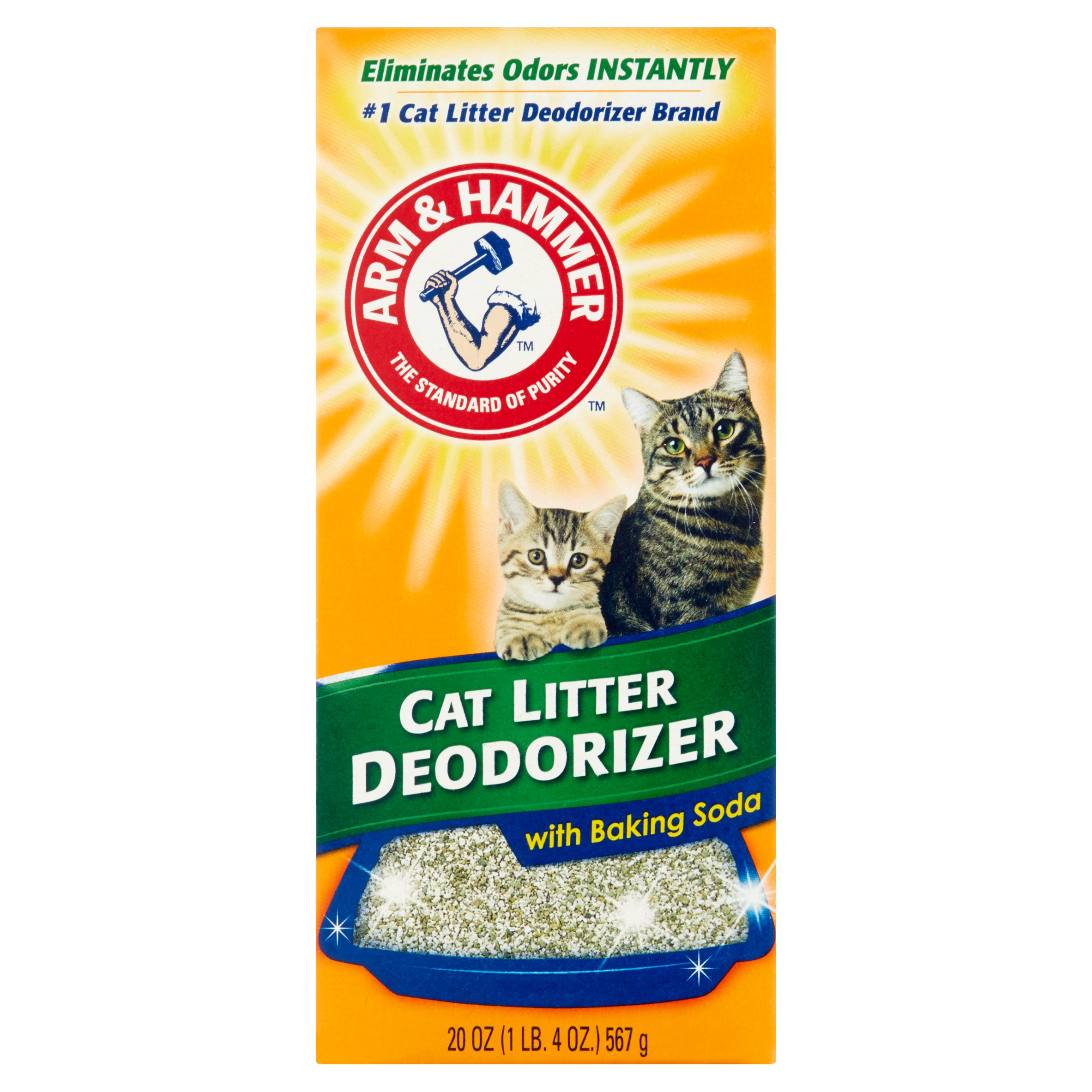 Arm & Hammer Cat Litter Deodorizer with Baking Soda, 20 oz
