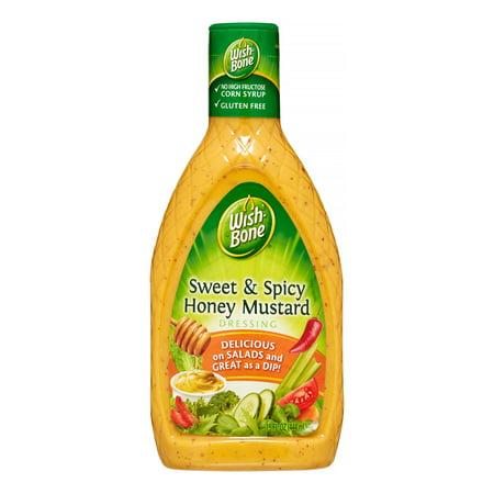 (3 Pack) Wish-Bone Salad Dressing, Sweet & Spicy Honey Mustard, 15 Fl Oz