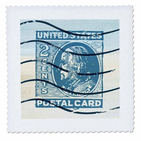 Art Postage Stamps (3dRose United States Postage Stamp vintage art - Quilt Square, 6 by)
